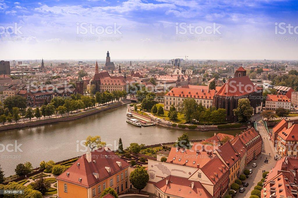 Landmark Wroclaw stock photo