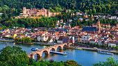 istock Landmarks and beautiful towns of Germany - medieval  Heidelberg ,view with Karl Theodor bridge 831716930