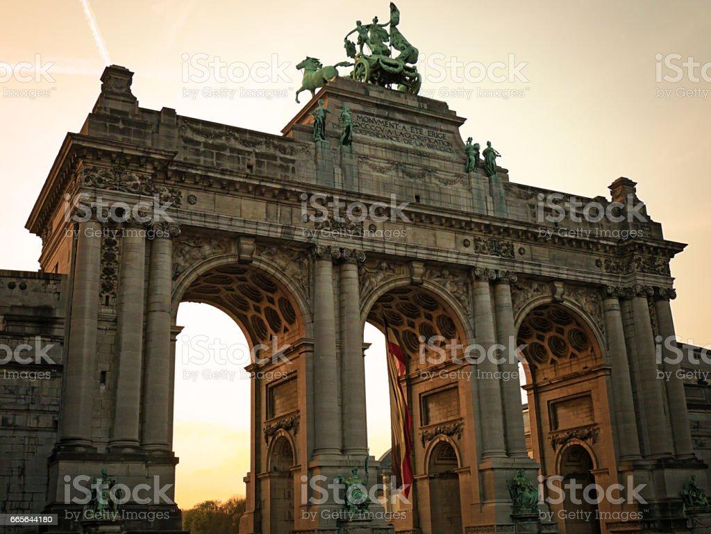 Landmarks in Brussels, Belgium - Le cinquantenaire Park stock photo