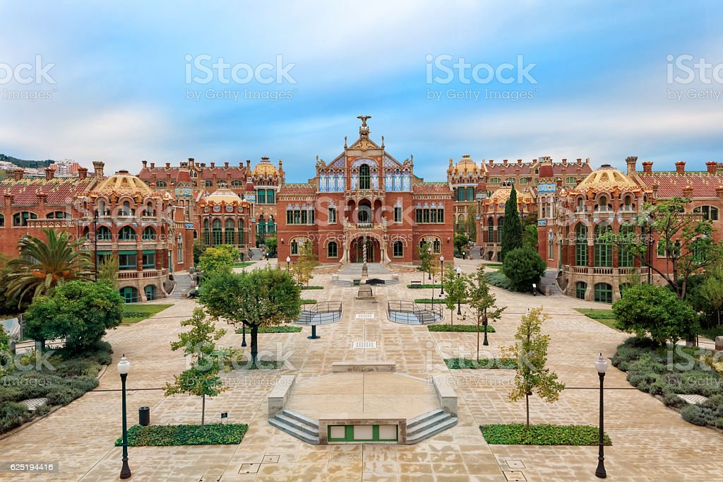 Landmarks of Barcelona stock photo