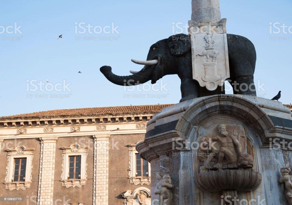 Landmarks of Catania stock photo