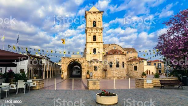 Wahrzeichen Zypernsbyzantin Kirche Saint Lazaros In Der Stadt Larnaka Stockfoto und mehr Bilder von Alt
