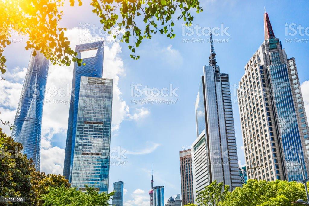 landmarks of Shanghai stock photo