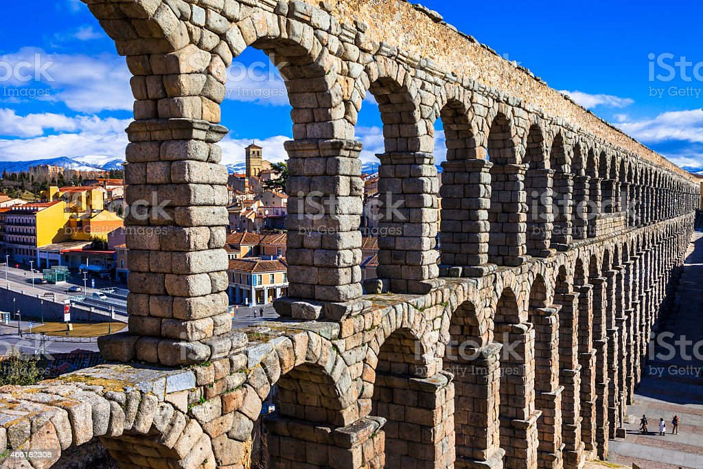 Landmarks of Spain, Segovia. stock photo