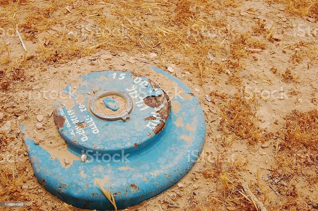 Landmine stock photo