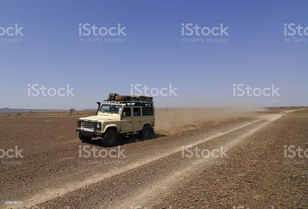 Landrover in the Desert royalty-free stock photo