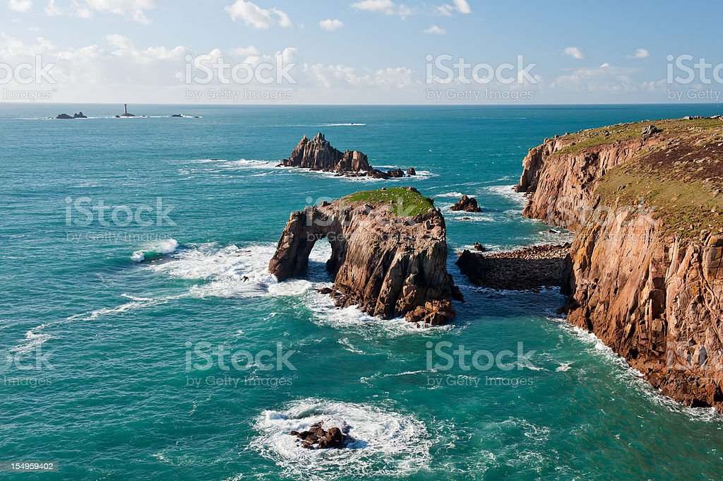 Lands End, Cornwall stock photo