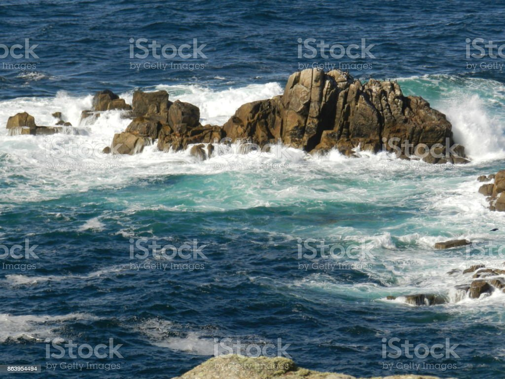 Lands End. Cornwall stock photo