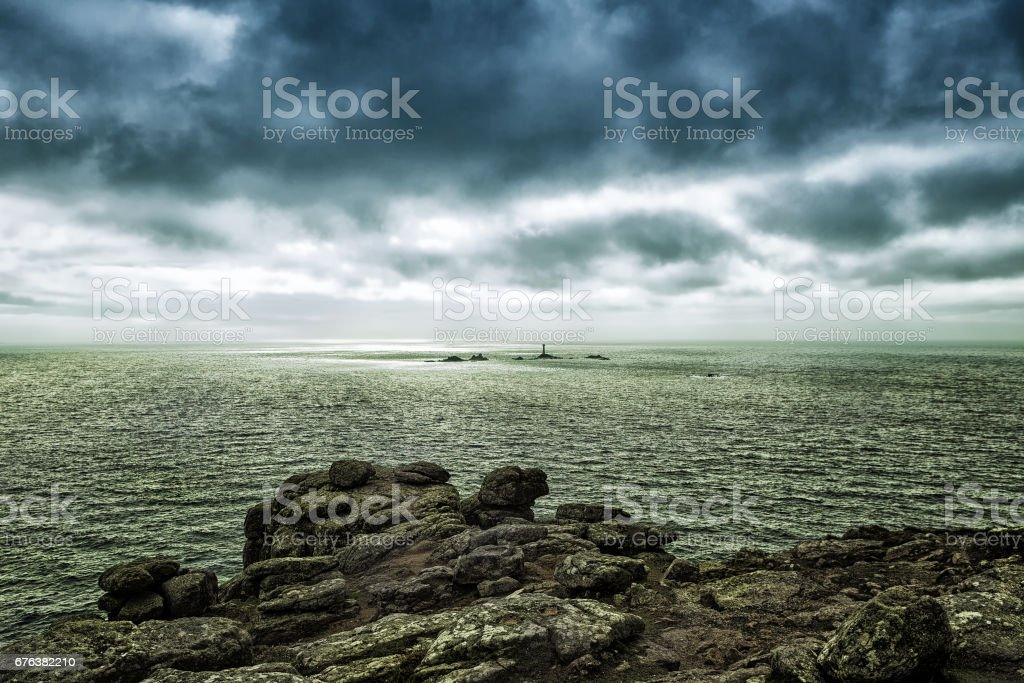 Lands End Peninsula in Cornwall stock photo