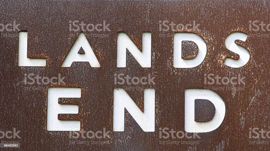 'Lands End' sign stock photo