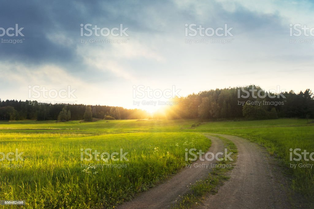 Landsakap i Sverige stock photo