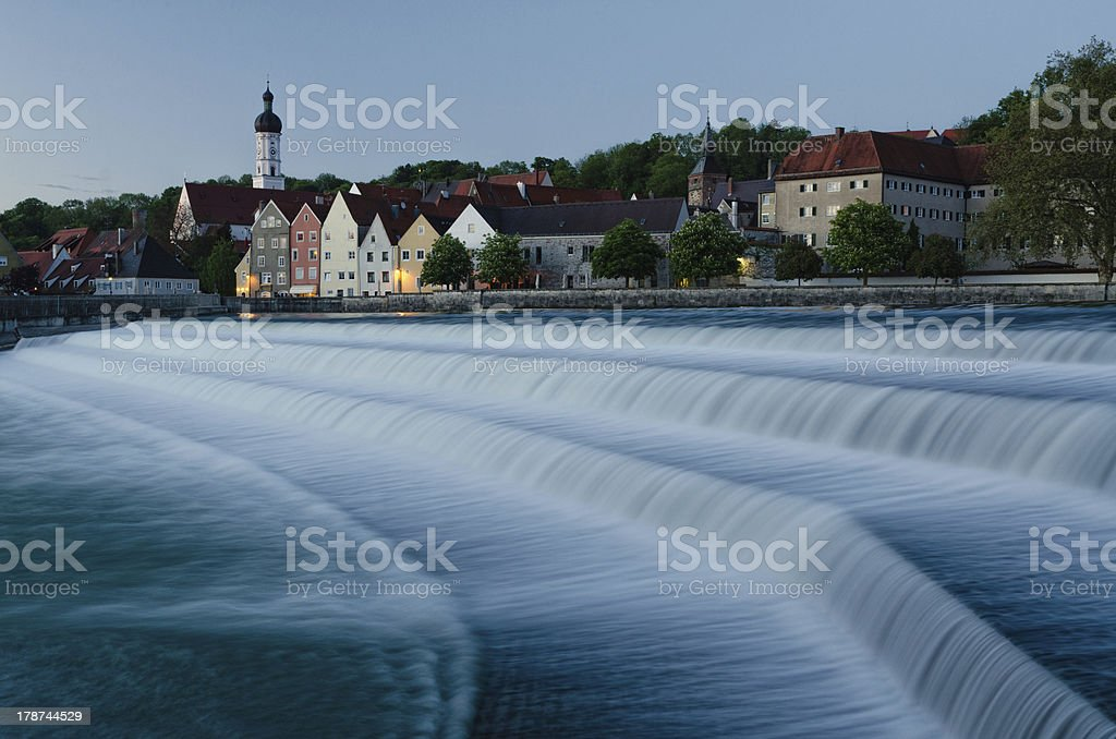 Landsberg am Lech at Night stock photo