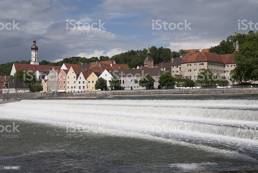 landsberg cityscape stock photo