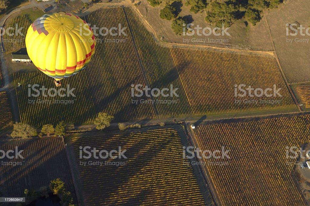 landscape above stock photo