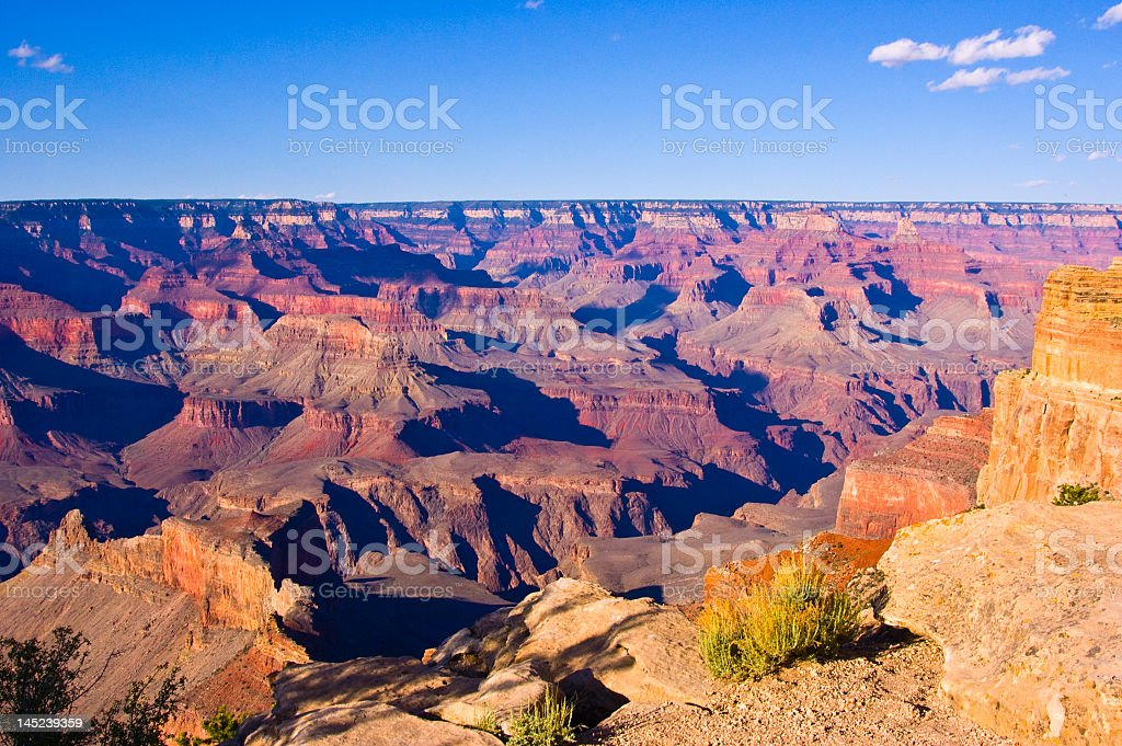 Landscape aerial view of the beautiful Grand Canyon stock photo