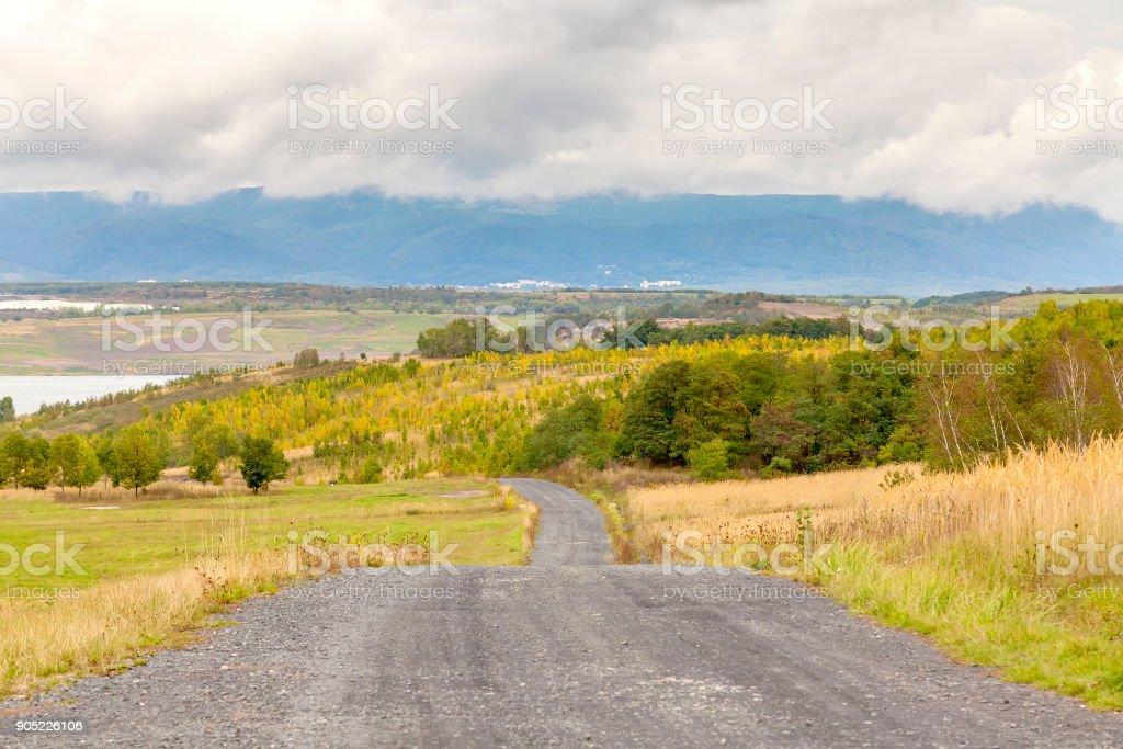 Landscape after coal mining, Most, Czech Republic stock photo