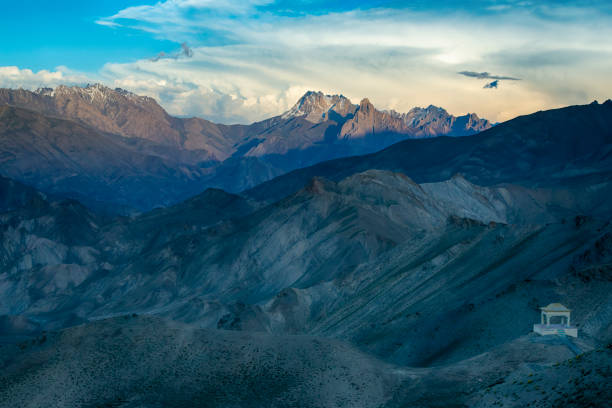 Landscape along the National hightway between Kashmir and Ladakh stock photo