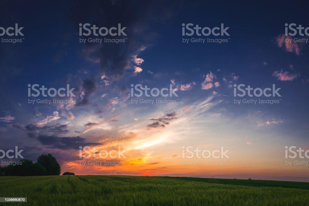 Landscape along the sunset – zdjęcie
