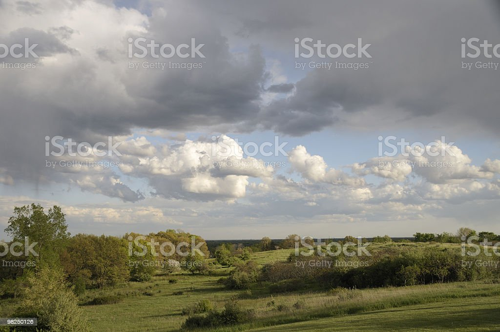Landscape and Clouds royalty-free stock photo
