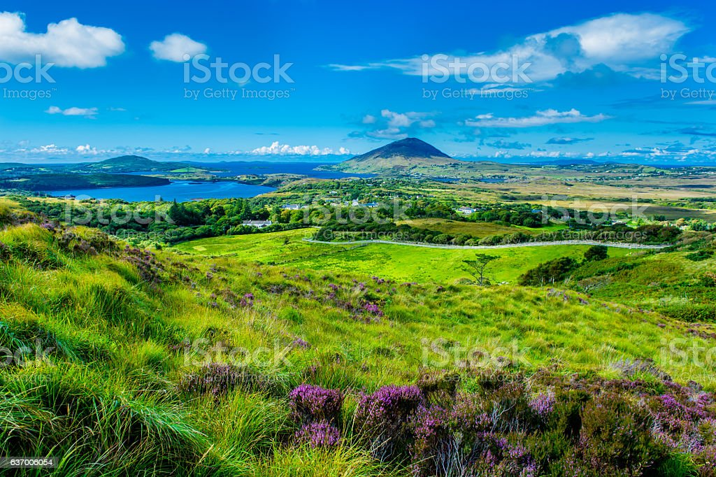 Landscape and Coast Connemara in Ireland royalty free stockfoto