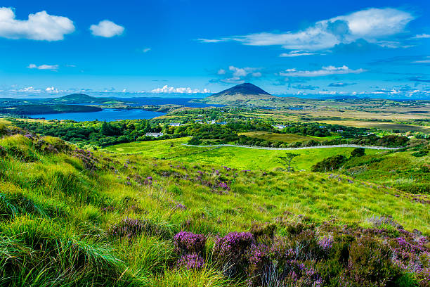 Landscape and Coast Connemara in Ireland stock photo