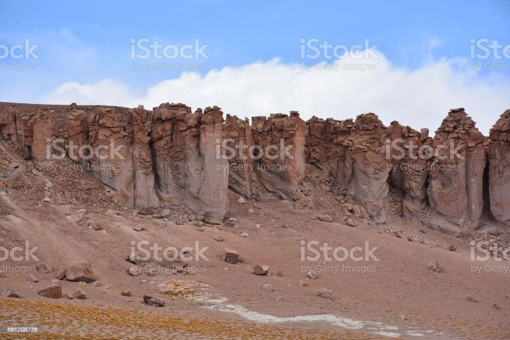 Landscape and nature at Atacama desert in Chile royalty-free stock photo