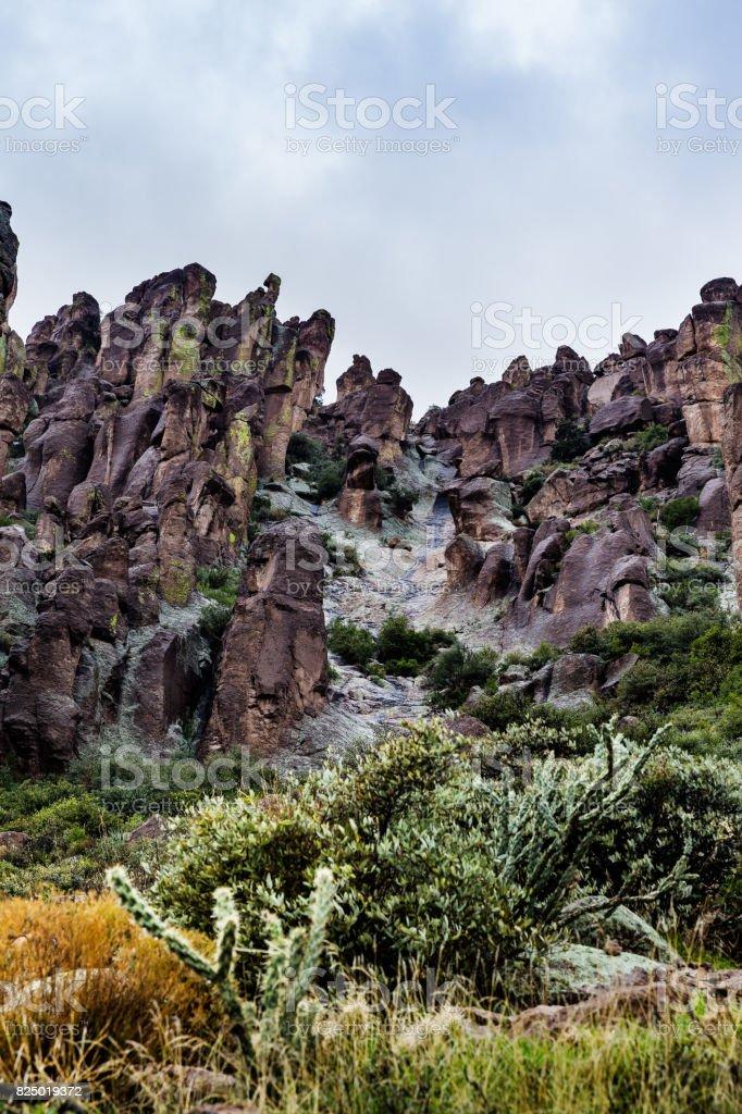 Landscape and rocks in desert of Arizona, USA stock photo