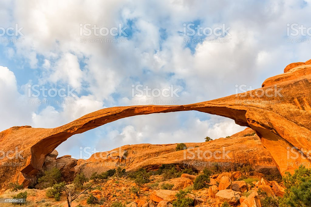 Landscape Arch at Arches National Park, Utah stock photo
