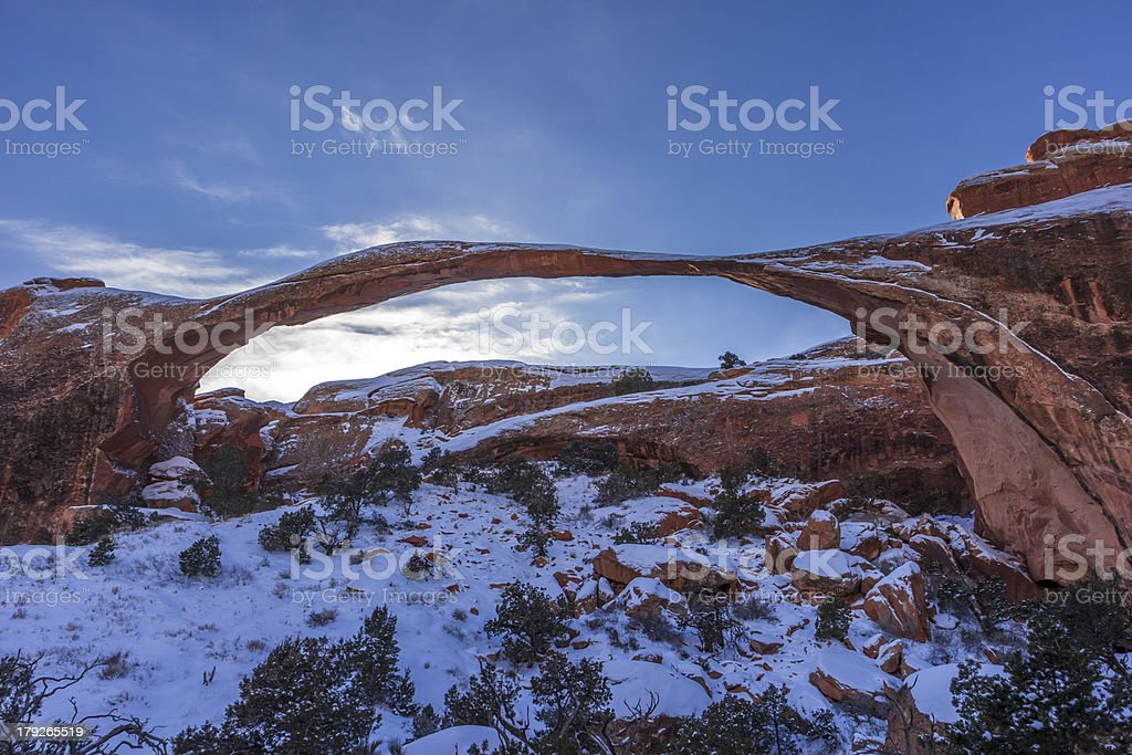 Landscape Arch at Arches Natn'l Park Utah royalty-free stock photo
