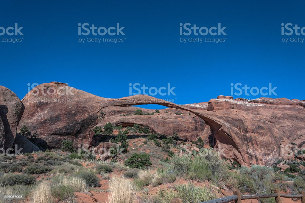 Landscape Arch in Arches National Park, Utah royalty-free stock photo