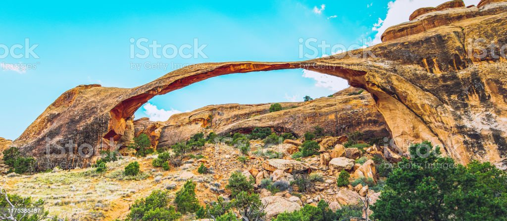 Landscape Arch In Arches National Park Utah Usa Stock Photo Download Image Now Istock