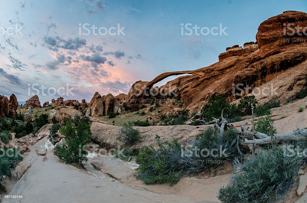 Landscape Arch in Morning stock photo