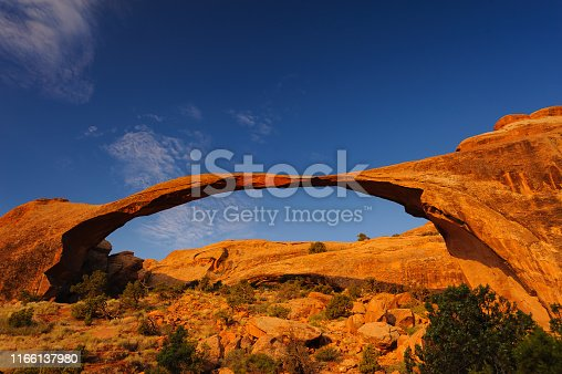 Photography of Landscape Arch at Arches National Park USA