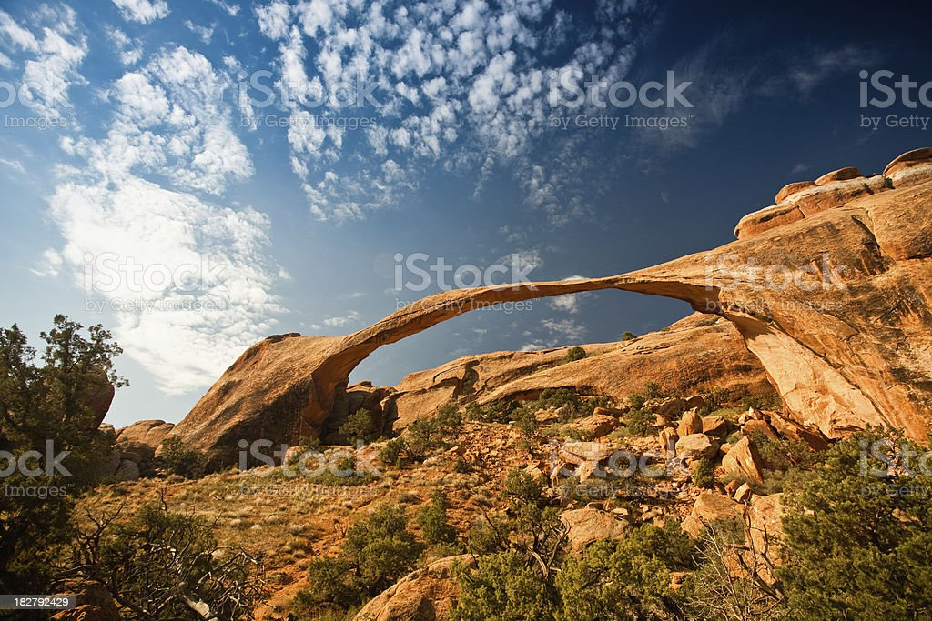 Landscape Arch rock formation royalty-free stock photo