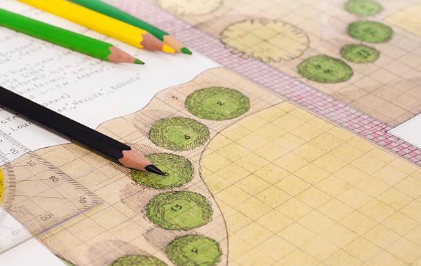 Landschaftsarchitekten Zeichnung – Foto