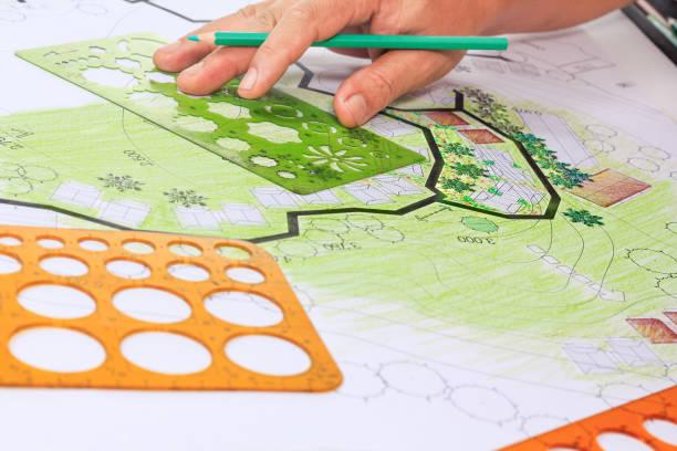 Landschaftsarchitektur Gestaltung Gartenplan für wohnische Entwicklung – Foto