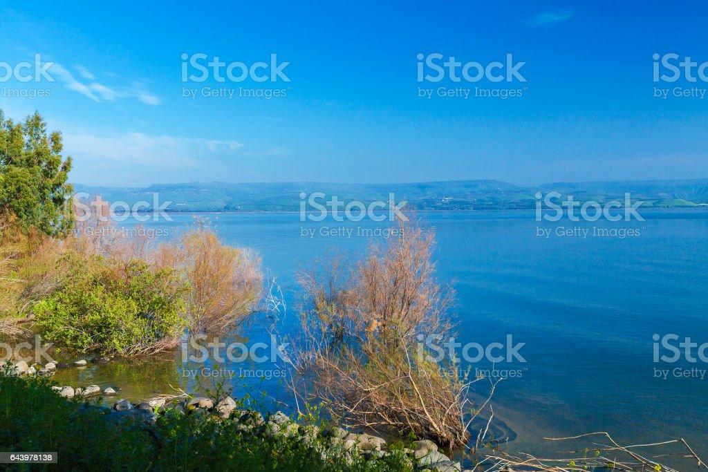 Landscape around Galilee Sea - Kinneret Lake stock photo
