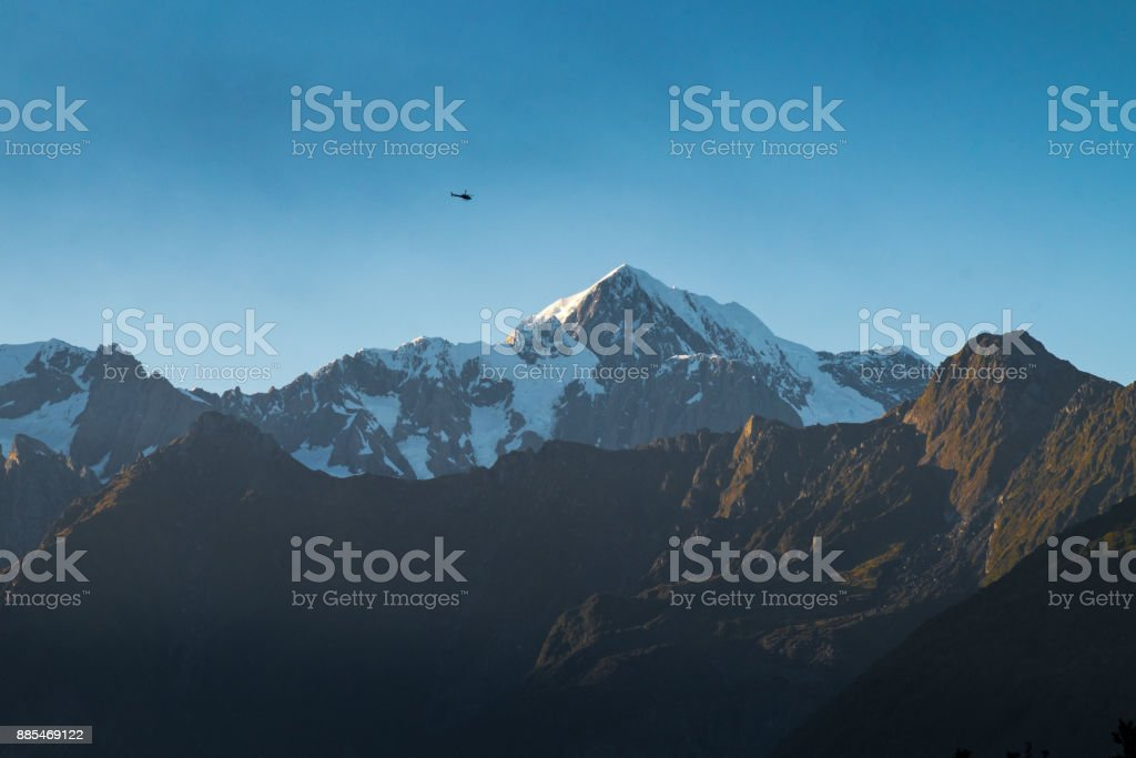 Landscape around Lake Matheson, New Zealand stock photo