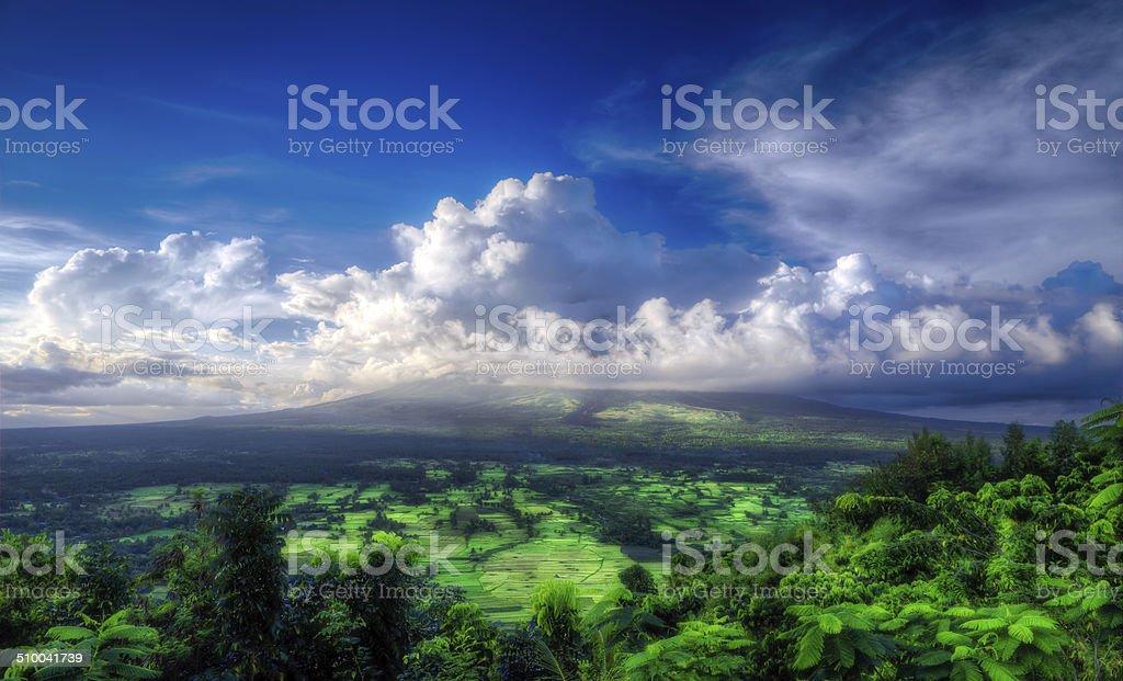 Landscape around Mayon stock photo