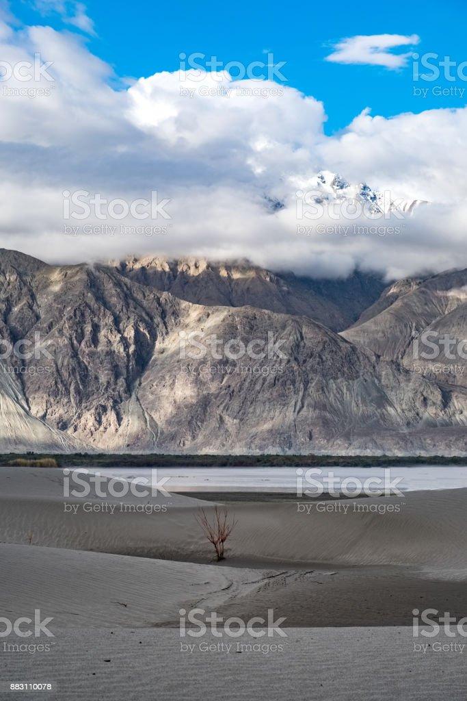 Landscape around Nubra Valley in Ladakh, India stock photo