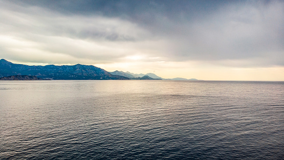 Beautiful seascapes photographed by drone from the air