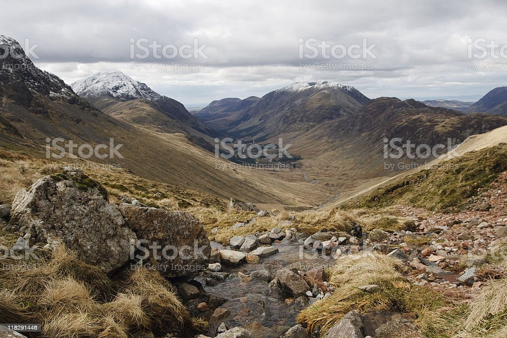Landscape Assent of Great Gable Lake district stock photo