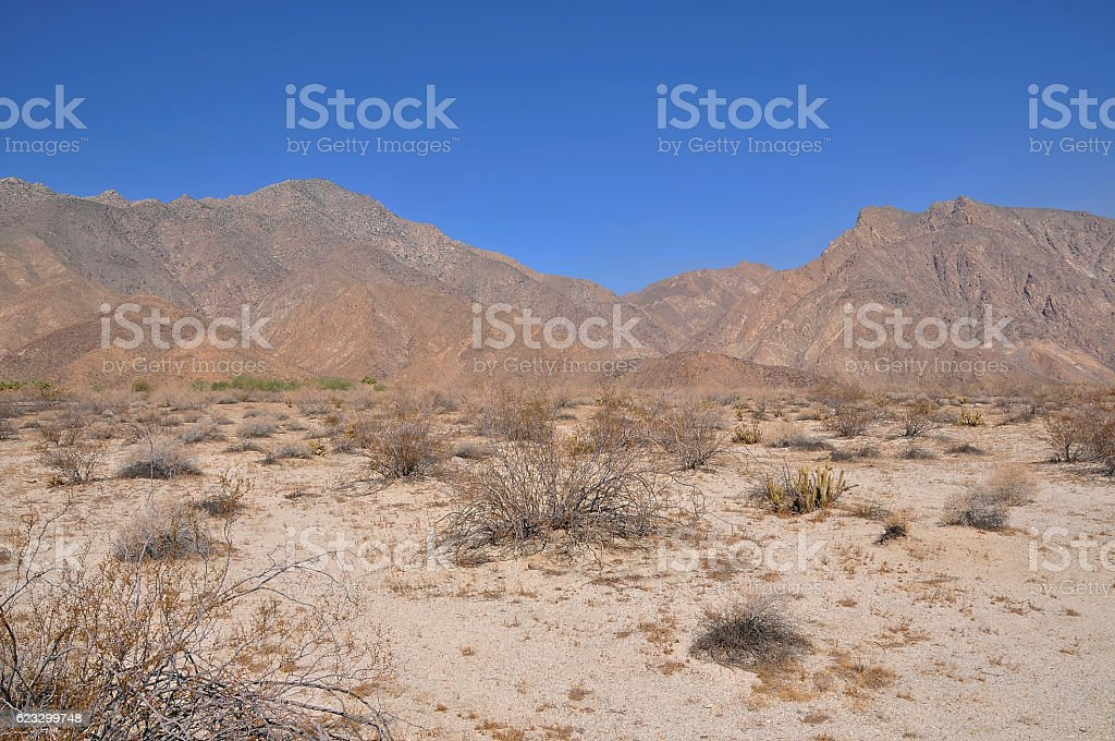 Landscape at Anza Borrego stock photo