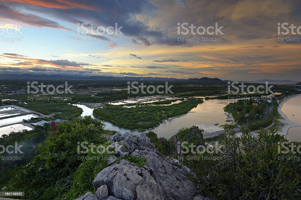 Landscape at dusk royalty-free stock photo