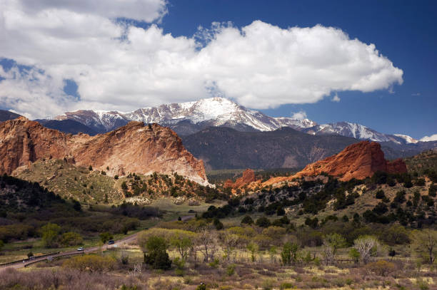 Landscape at Garden of the Gods, Colorado Springs stock photo