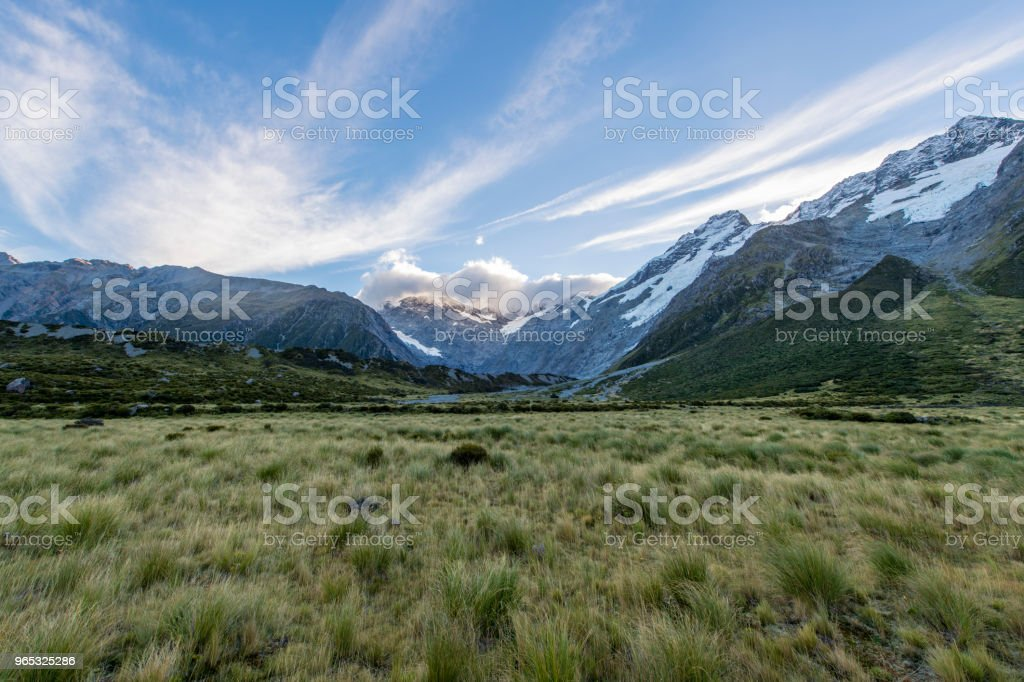 Landscape at Mount Cook National Park zbiór zdjęć royalty-free