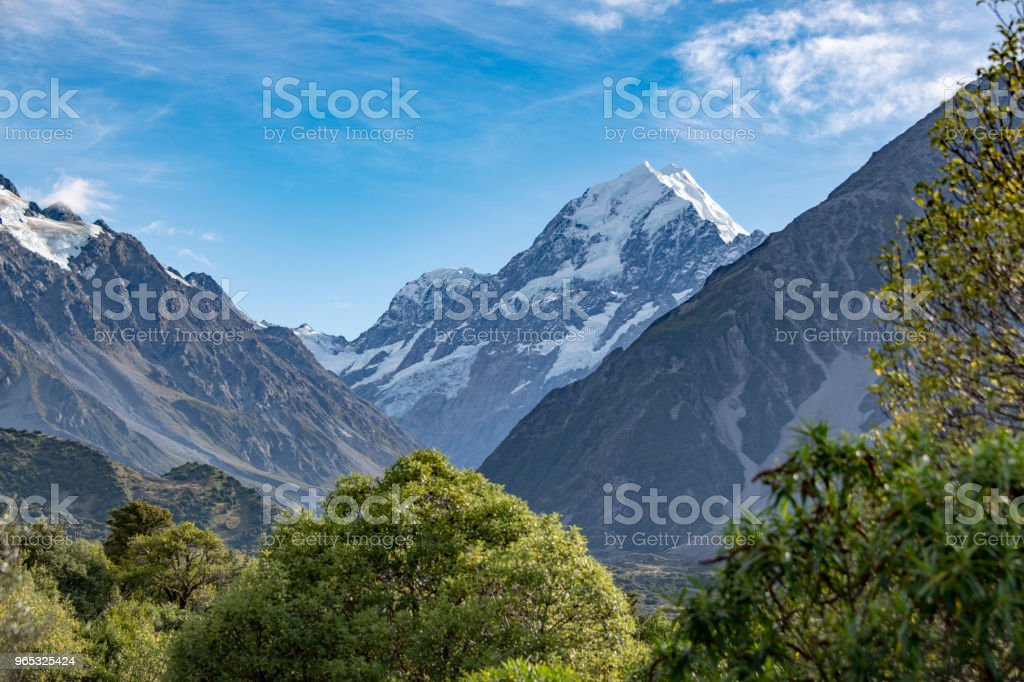 Landscape at Mount Cook National Park royalty-free stock photo