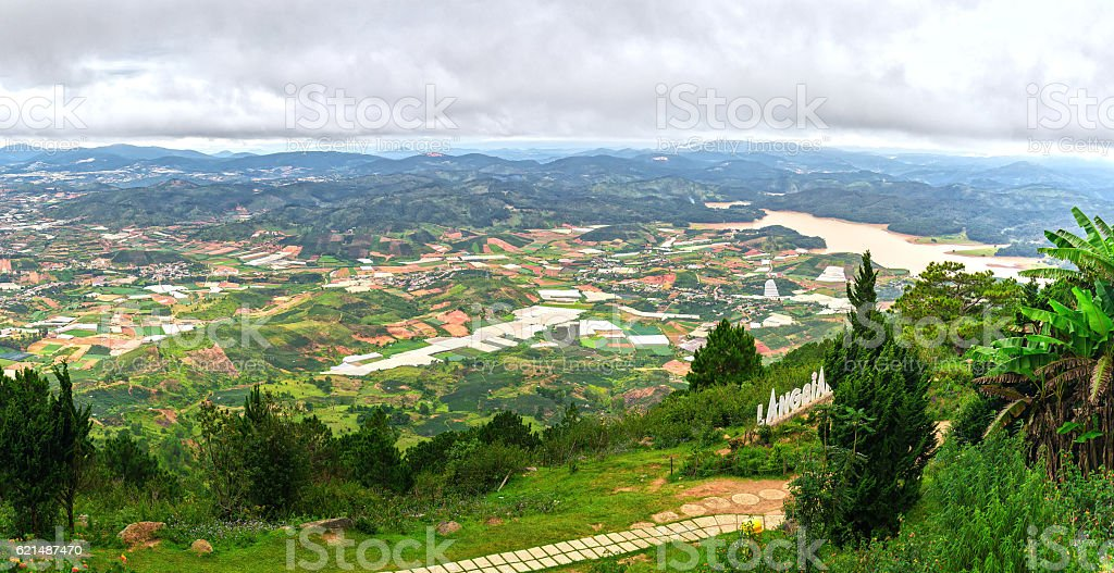 Landscape at Mount Langbiang Lizenzfreies stock-foto