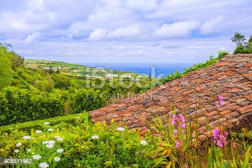 Landscape near Ponta do Sossego at Nordeste on Sao Miguel, Azores