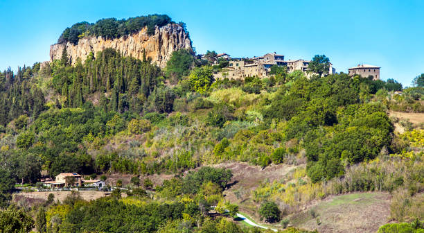 Landscape at Orvieto in the province of Terni in Umbria Italy stock photo